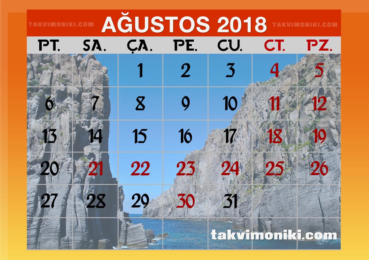 Ağustos 2018 Görsel Takvim