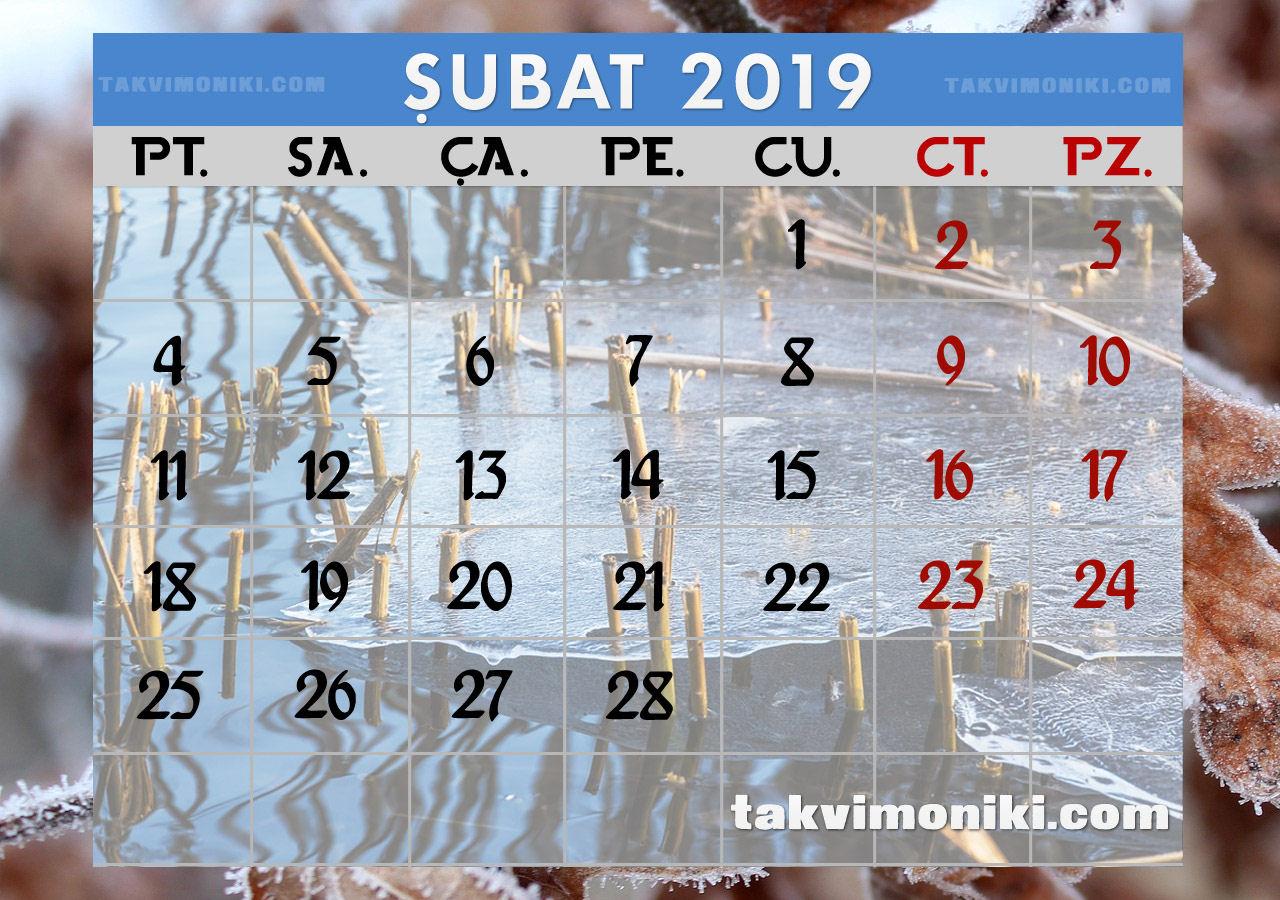 Şubat 2019 Görsel Takvim