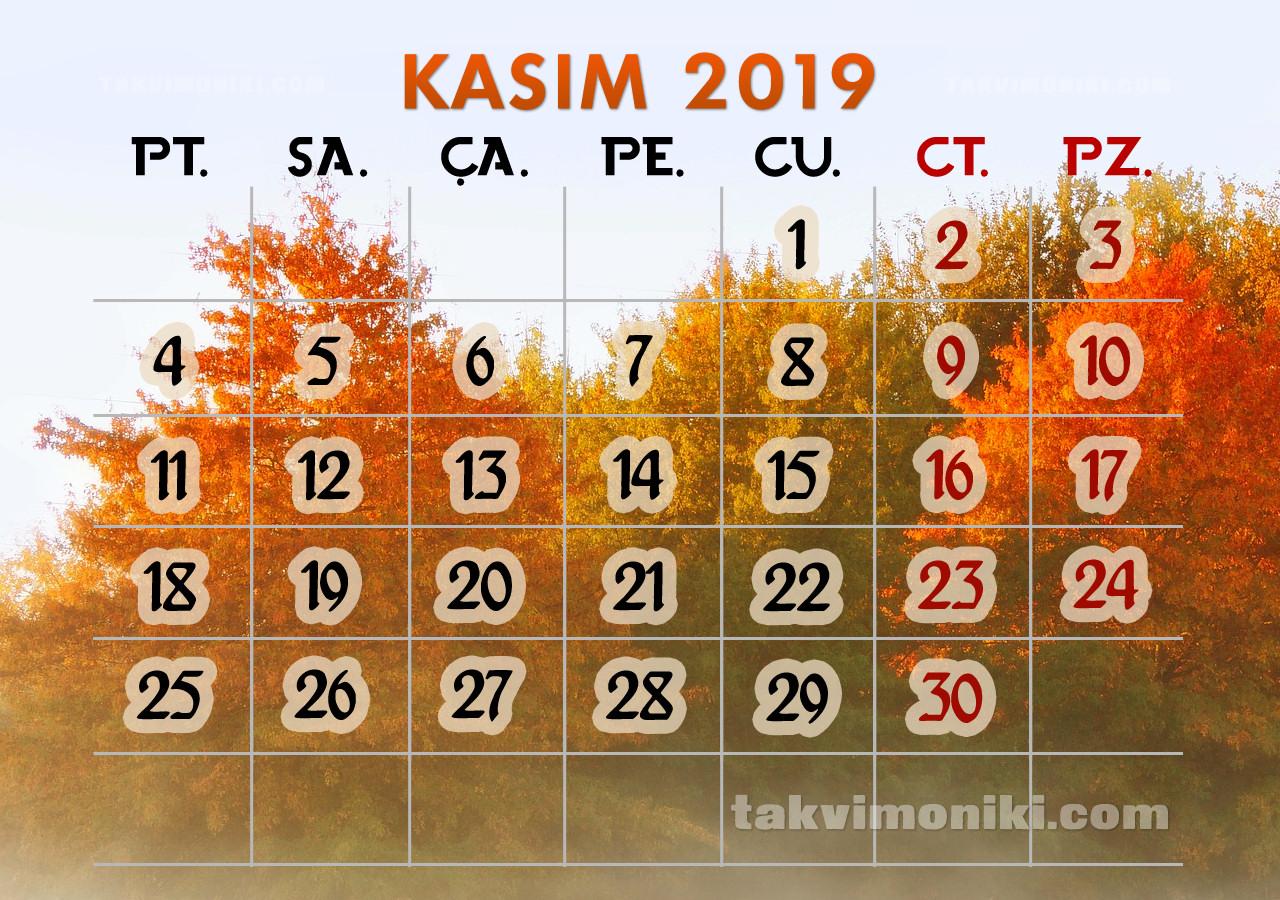 Kasım 2019 Görsel Takvim