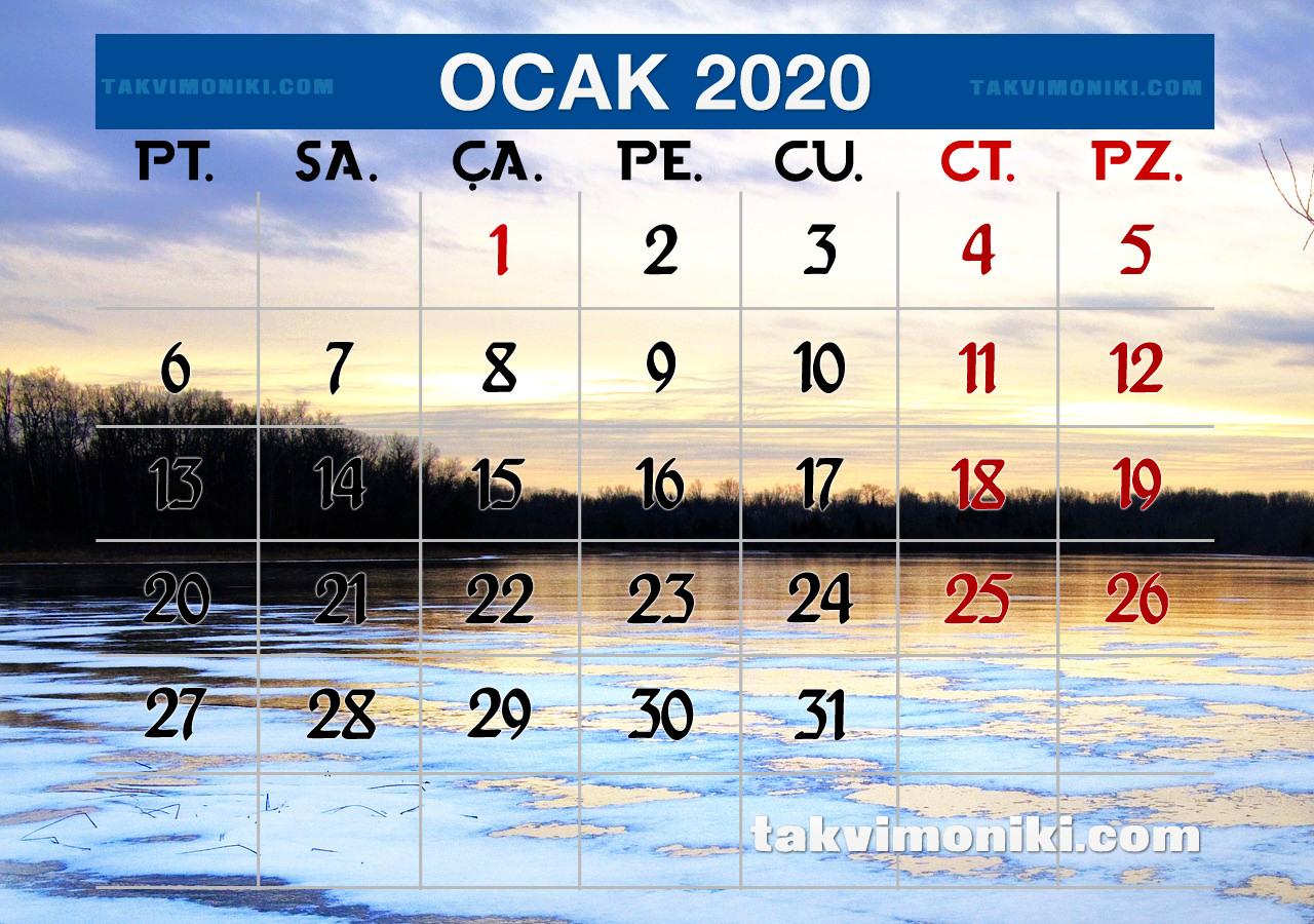 Ocak 2020 Görsel Takvim
