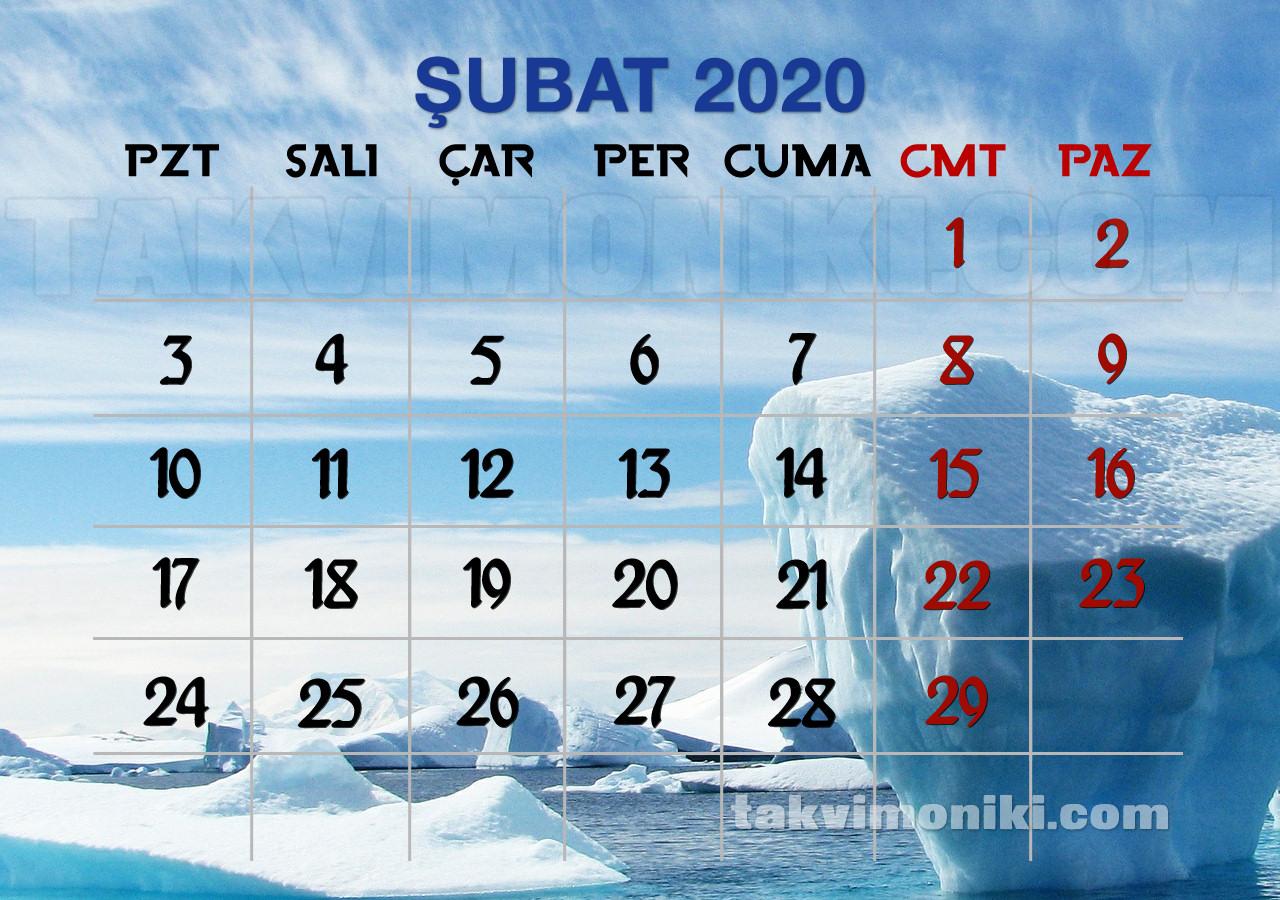 Şubat 2020 Görsel Takvim